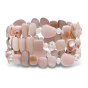 Mixit™ Pink Shell 3-Row Stretch Bracelet