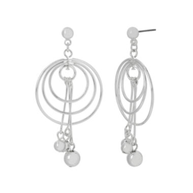 jcpenney.com | Silver Reflections™ Silver-Plated Orbital Drop Earrings