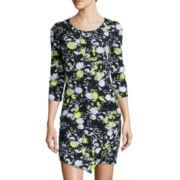 Decree® Long-Sleeve Asymmetrical Wrap Dress