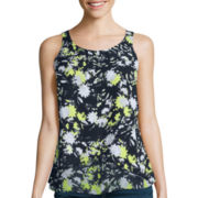 Decree® Cross-Front Flutter Tank Top