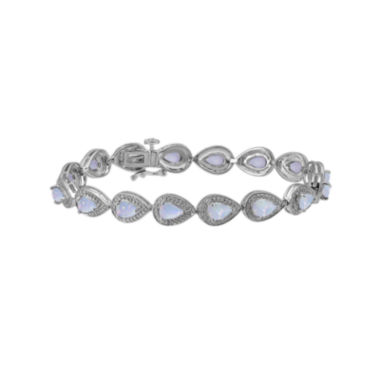 jcpenney.com | Lab-Created Opal and Diamond-Accent Sterling Silver Bracelet