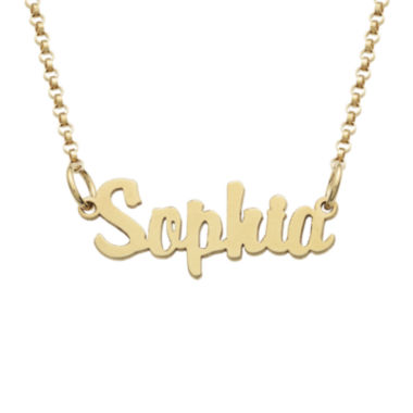 jcpenney.com | Personalized 18K Gold over Silver Girls Script Name Necklace