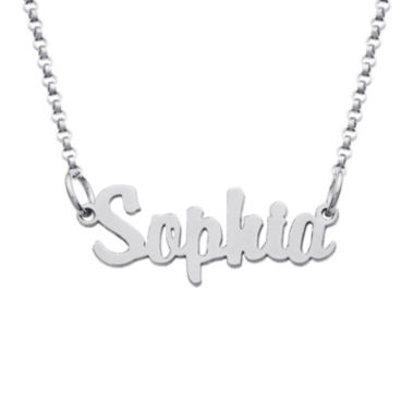 jcpenney.com | Personalized Sterling Silver Girls Script Name Necklace