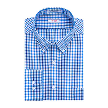 Izod aqua check dress shirt big tall jcpenney for Izod shirt size chart