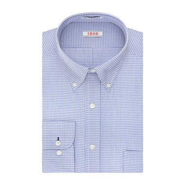 Izod Aqua Multi Plaid Dress Shirt Big Tall Jcpenney