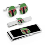 Star Wars® Boba Fett Helmet Cuff Links, Money Clip & Tie Bar Gift Set
