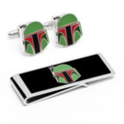 Star Wars® Boba Fett Helmet Cufflinks & Money Clip Gift Set