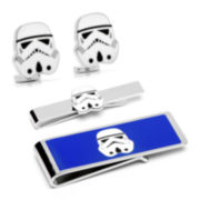 Star Wars® Storm Trooper Tie Bar, Cuff Links & Money Clip Gift Set