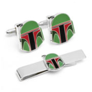 Star Wars® Boba Fett Helmet Cuff Links & Tie Bar Gift Set