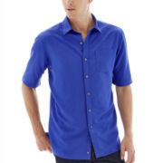 Claiborne® Short-Sleeve Solid Woven Shirt