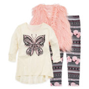 Beautees Vest, Top and Leggings - Girls 7-16 and Plus