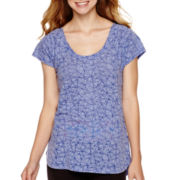 City Streets® Short-Sleeve T-Back Burnout T-Shirt