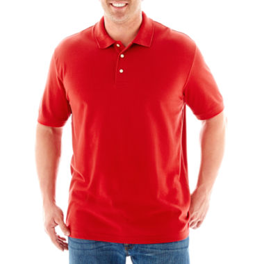 jcpenney.com | The Foundry Big & Tall Supply Co.™ Solid Piqué Polo