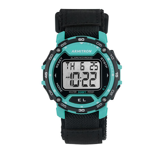 Armitron Mens Black Strap Watch-40/8291tel