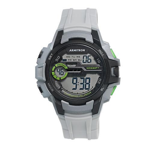 Armitron Mens Gray Strap Watch-40/8375lgy