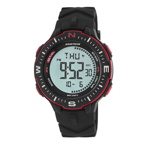 Armitron Mens Black Strap Watch-40/8391brd