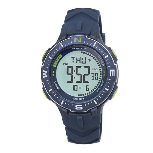 Armitron Mens Green Strap Watch-40/8391nvy