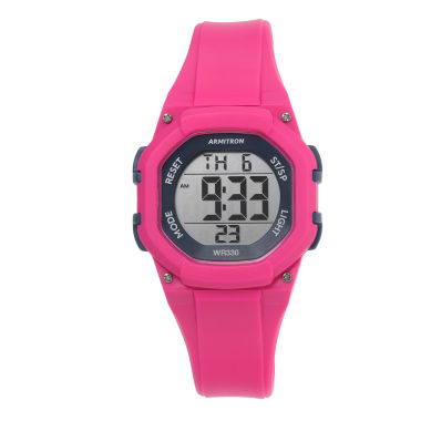 jcpenney.com | Armitron Womens Pink Strap Watch-45/7080mag