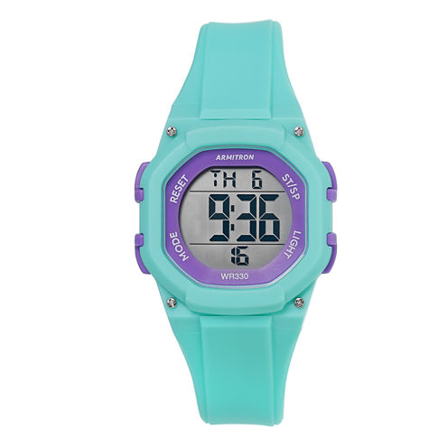 Armitron Womens Green Strap Watch-45/7080tel