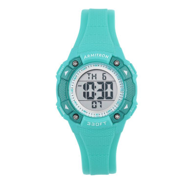 jcpenney.com | Armitron Womens Green Strap Watch-45/7081lbl
