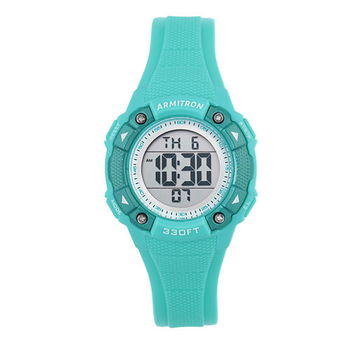 Armitron Womens Green Strap Watch-45/7081lbl