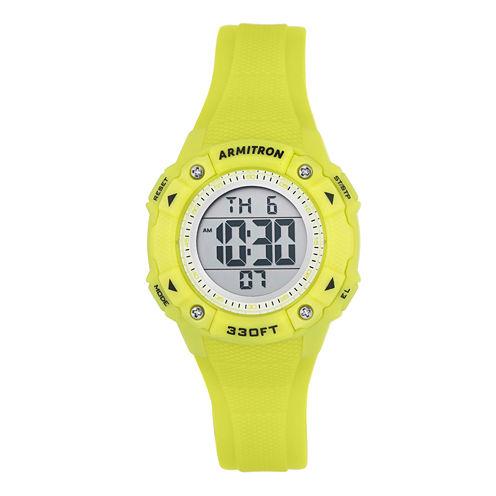 Armitron Womens Yellow Strap Watch-45/7081lgn