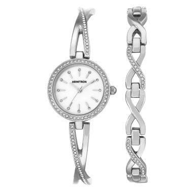 jcpenney.com | Armitron Now Womens Silver Tone Watch Boxed Set-75/5486mpsvst