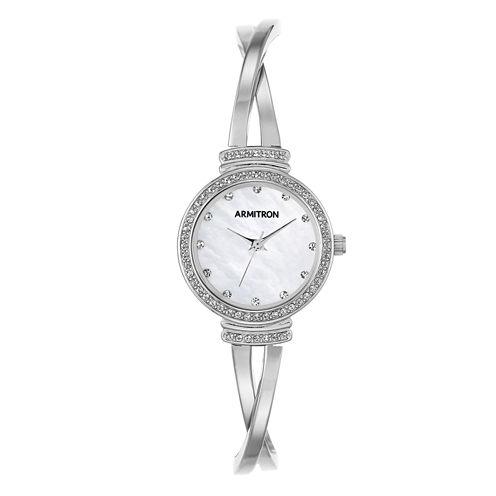 Armitron Now Womens Silver Tone Watch -75/5474mpsv
