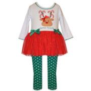 Bonnie Jean Girls 2-pc. Legging Set-Baby 0-24 Mnths