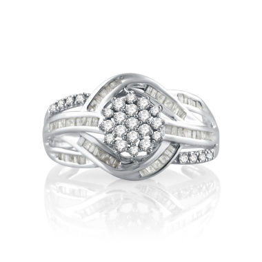 jcpenney.com | 1/2 CT. T.W. White Diamond 10K Gold Cocktail Ring