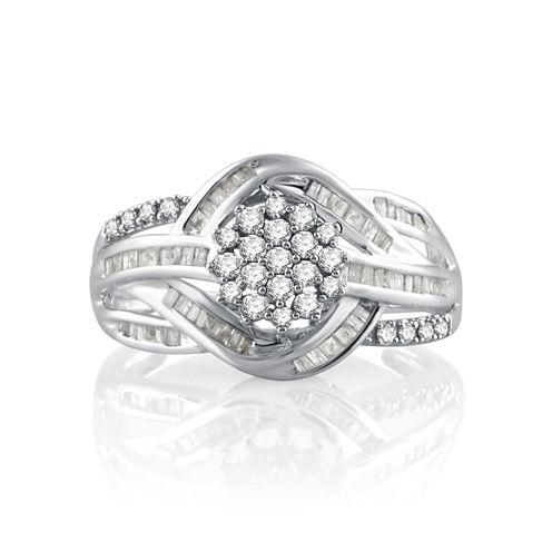 1/2 CT. T.W. White Diamond 10K Gold Cocktail Ring
