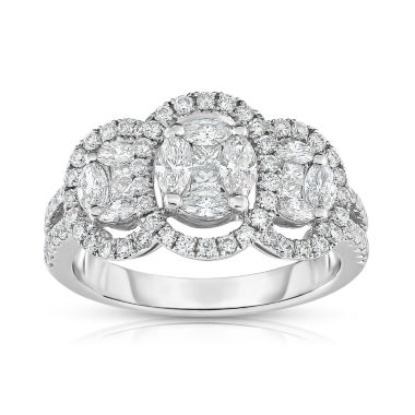 jcpenney.com | Womens 1 1/4 CT. T.W. White Diamond 14K Gold Cocktail Ring