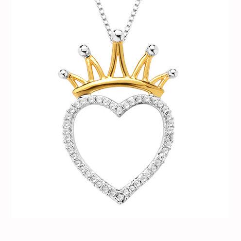1/8 CT. T.W. White Diamond 10K Gold Pendant Necklace