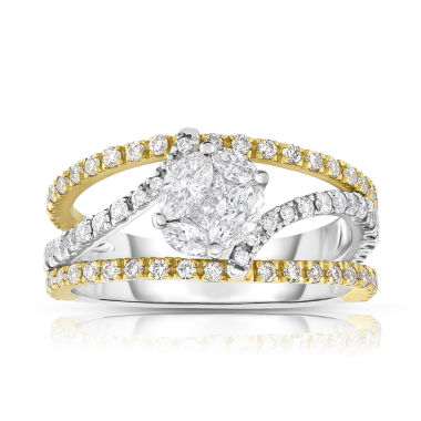 jcpenney.com | Womens 1 1/4 CT. T.W. White Diamond 14K Gold Bypass Ring