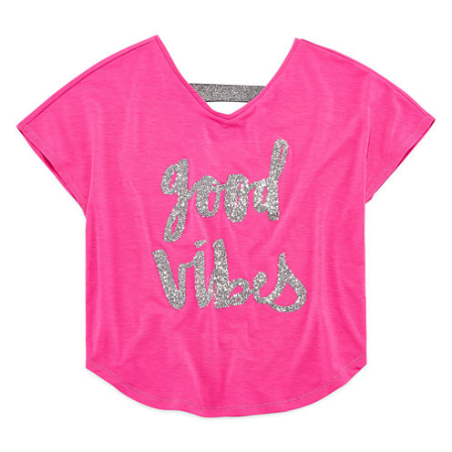 Total Girl Double V Dolman Top - Girls' 7-16 and Plus