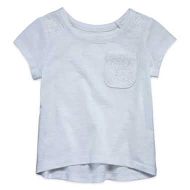 jcpenney.com | Okie Dokie Girls Short Sleeve T-Shirt-Baby
