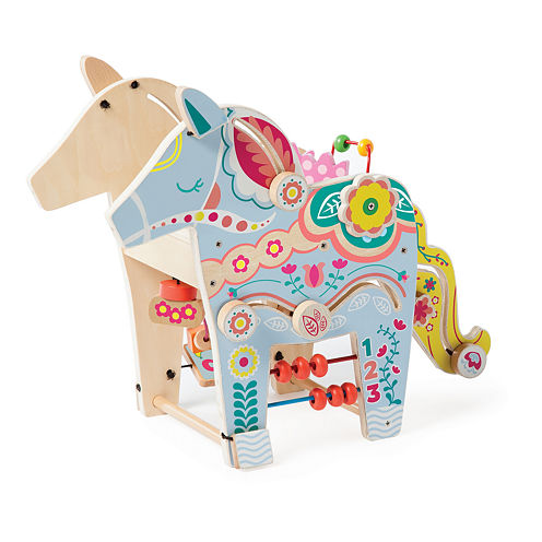 Playful Pony Wooden Activity Center