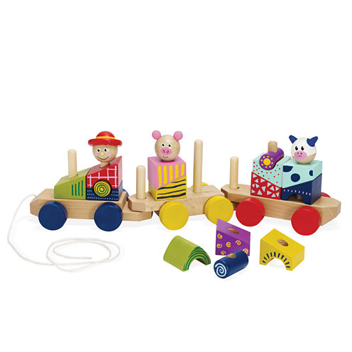 Manhattan Toy Stack Pull Wood Train Baby Play