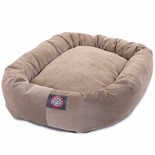 Majestic Pet Villa Collection Micro-Velvet Bagel Dog Bed