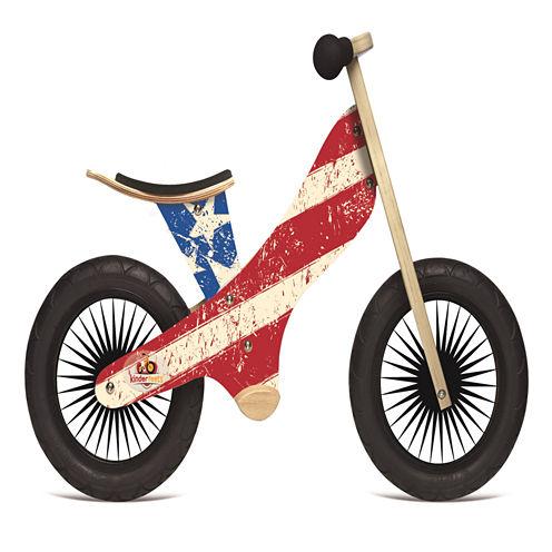 "Kinderfeets Retro Wooden Push 12"" Bike"