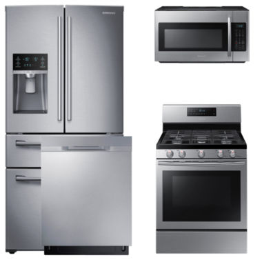 jcpenney.com | Samsung 4-pc. Gas Kitchen Package- Stainless Steel