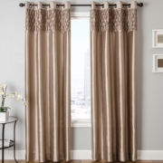 Bayonne Faux-Silk Grommet-Top Curtain Panel