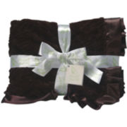 Scene Weaver™ Brown Faux Mink Baby Blanket