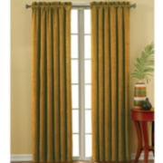 Eclipse® Faux-Suede Rod-Pocket Blackout Curtain Panel