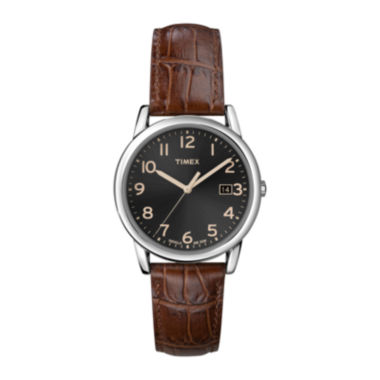 jcpenney.com | Timex® Easy Reader Mens Brown Leather Strap Watch