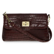 Liz Claiborne Equestrian-Flap Shoulder Bag