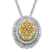 ⅓ CT. T.W. Yellow & White Diamond Pendant