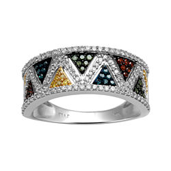 ½ CT. T.W. Multicolor Diamond Band