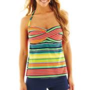 jcp™ Striped Twist Tankini Swim Top