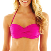 jcp™ Solid Twist Bandeau Swim Top